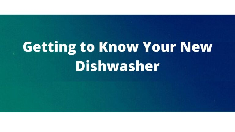 Specs of new dishwasher