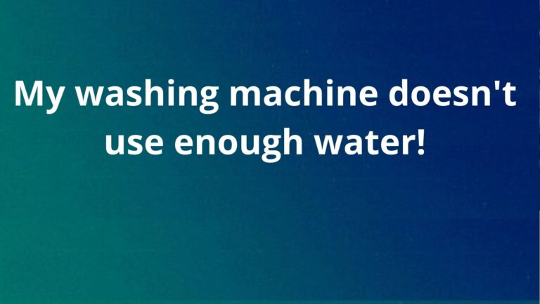 Washer does not get sufficient level of water