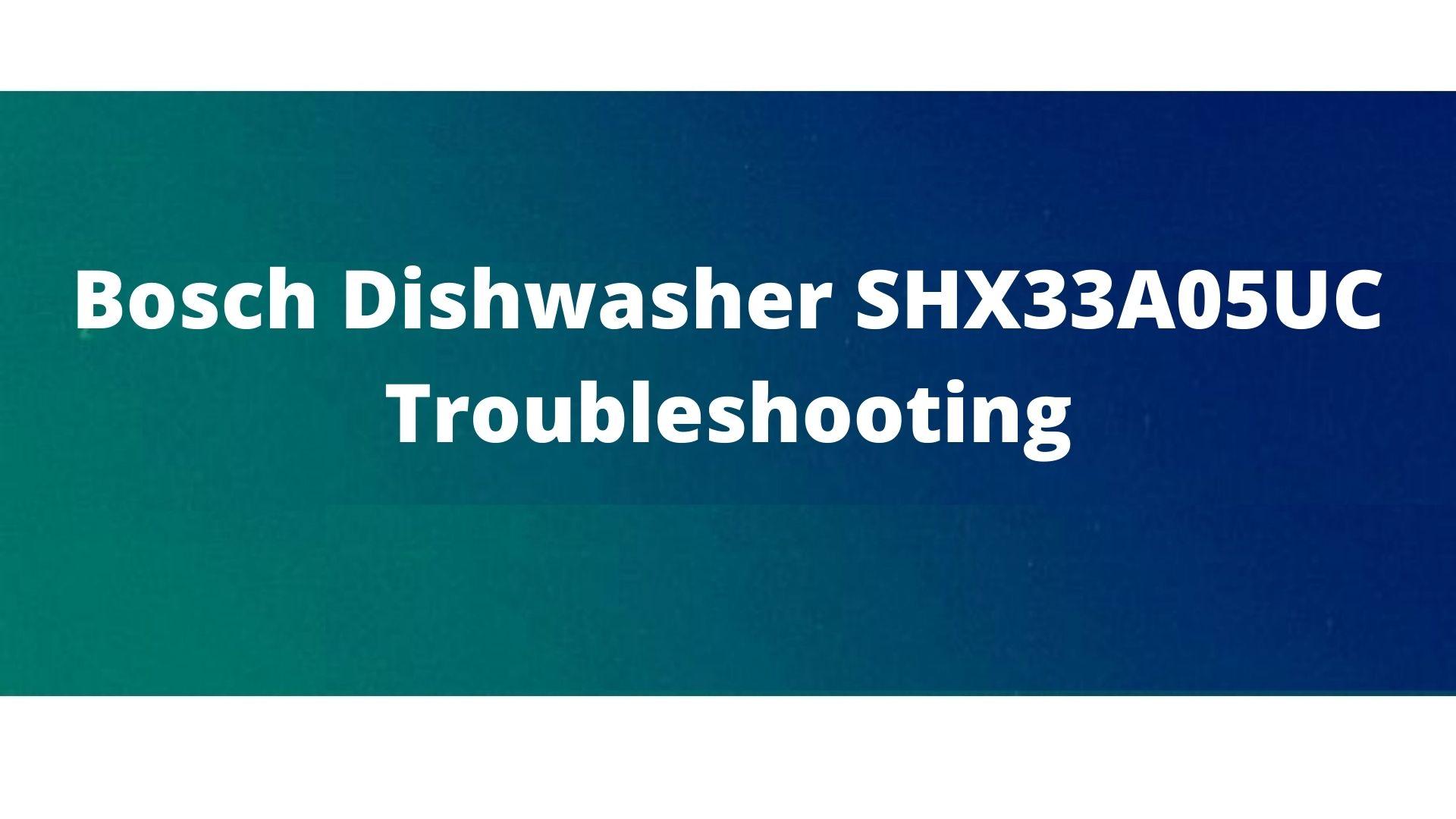 Problems in Bosch dishwasher