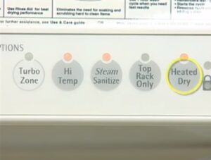 Temperature panel of dishwasher